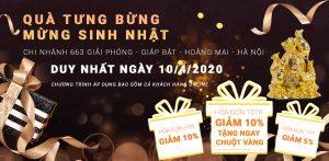 Đồ Đồng Dung Quang Hà sinh nhật giảm giá và khuyến mãi tưng bừng