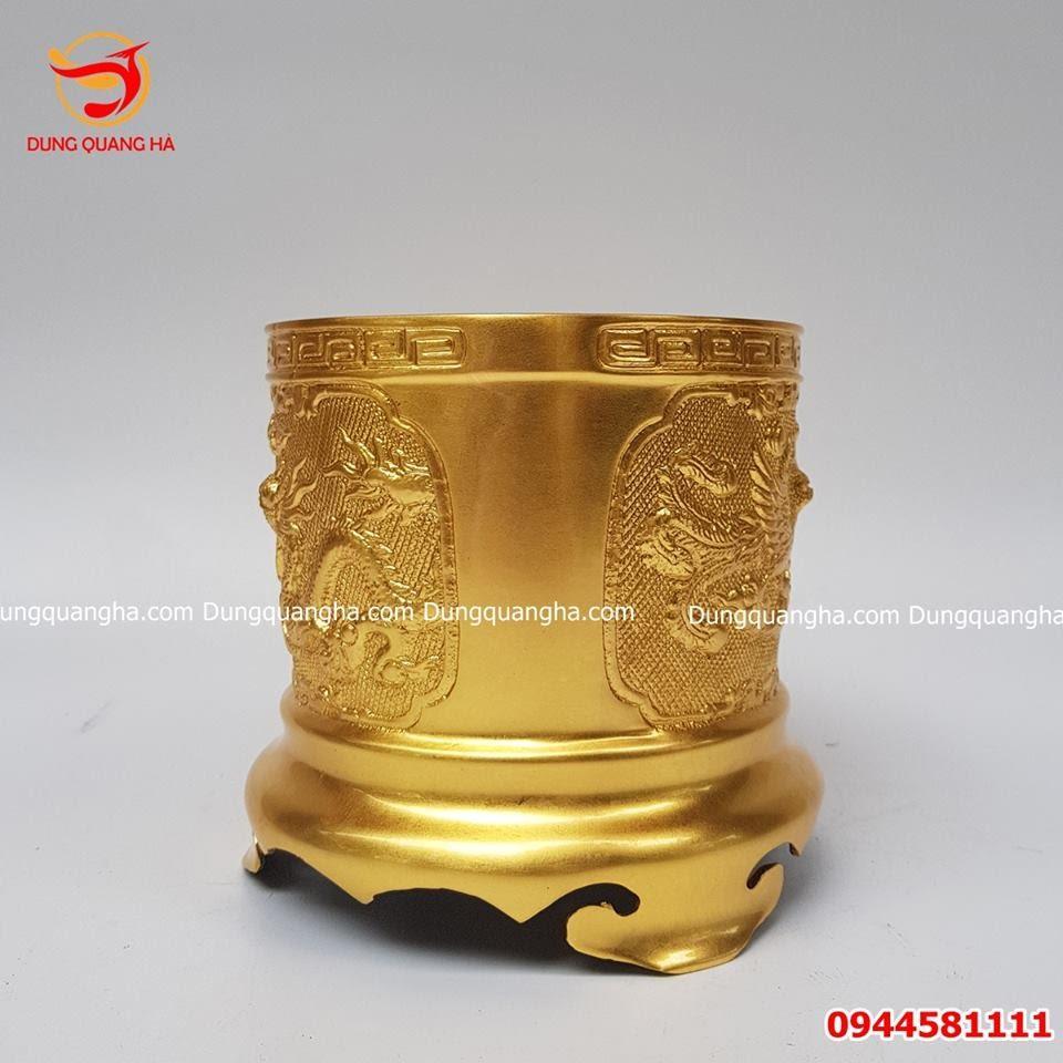 Bát hương đồng thếp vàng 9999