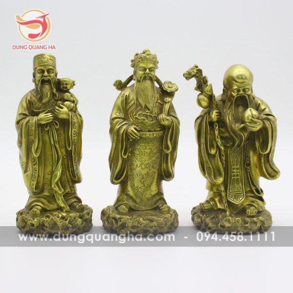 Bộ tượng Phúc Lộc Thọ bằng đồng đẹp, ý nghĩa