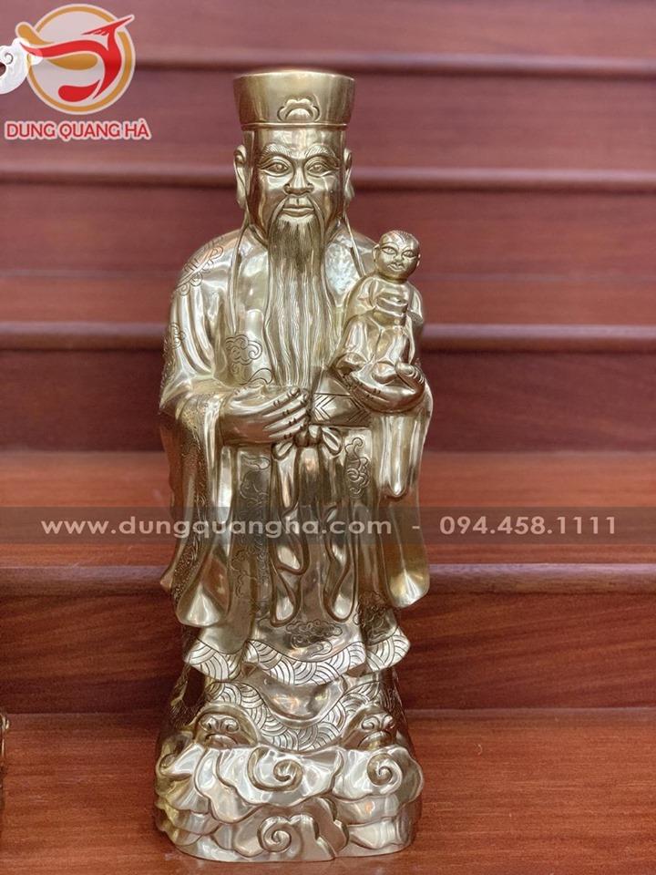 Bộ tượng Tam Đa bằng đồng cỡ lớn