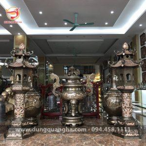 Các mẫu đèn thờ bằng đồng cỡ lớn kích thước 1m08, 1m5