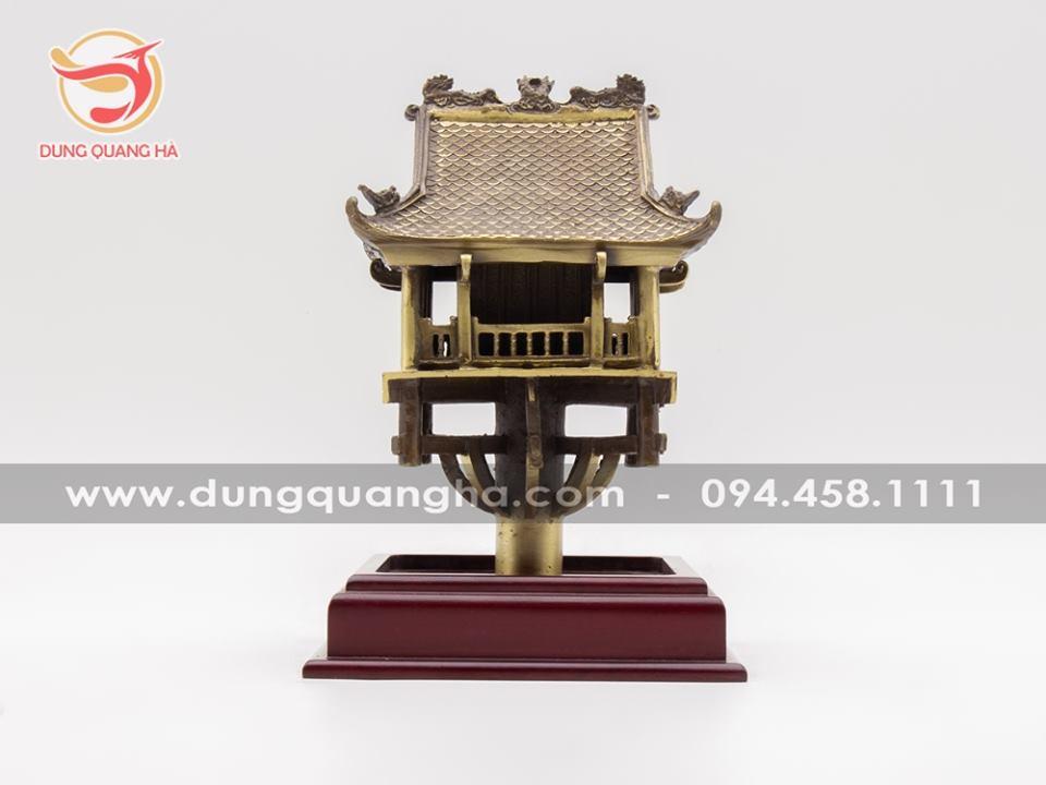 Chùa Một Cột bằng đồng vàng mộc