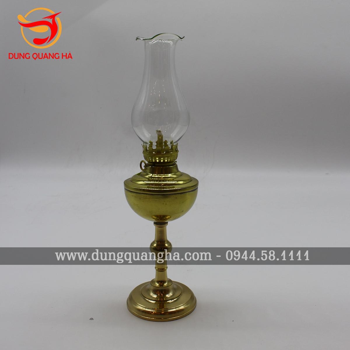 Đèn thờ bằng đồng vàng mộc trơn sang trọng 4