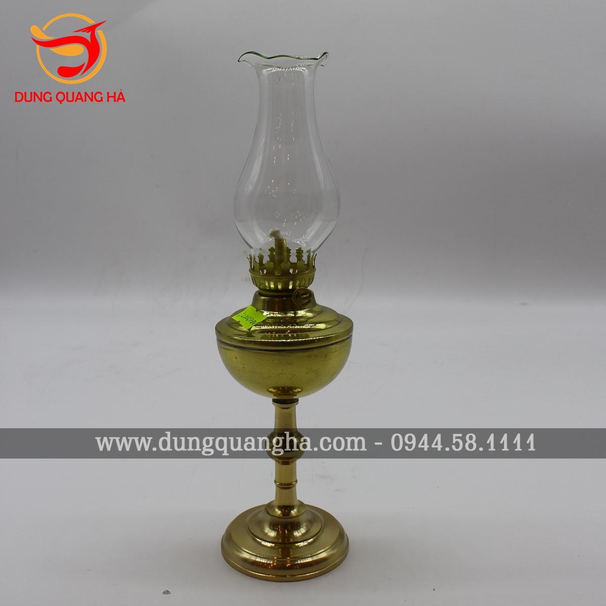 Đèn thờ bằng đồng vàng mộc trơn sang trọng 2