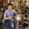 Đỉnh thất lân vờn cầu chữ tiếng Việt cao 90cm