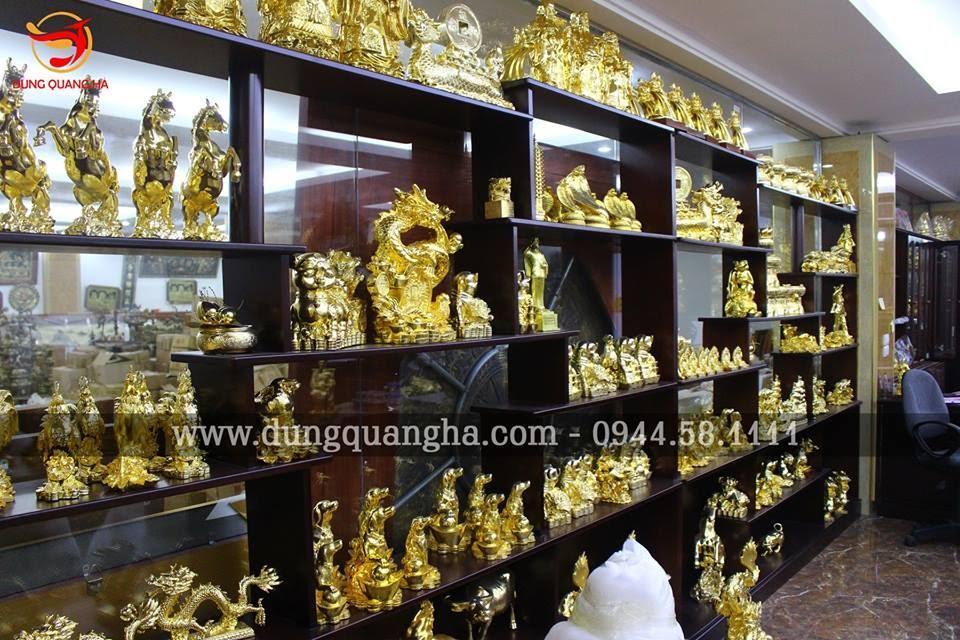 Đồ đồng mạ vàng
