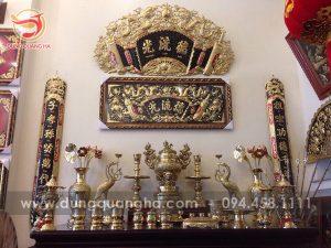 Đồ thờ bằng đồng cao cấp tạo sự sang trọng cho không gian thờ cúng