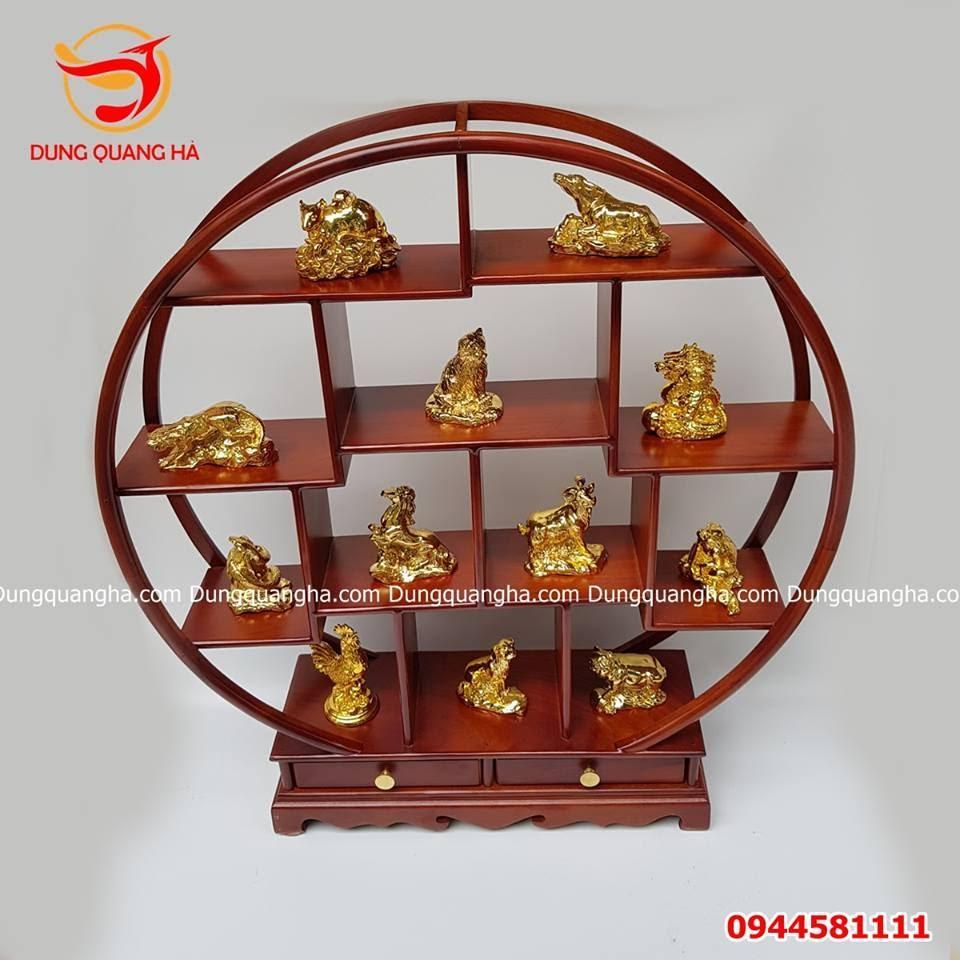 Khung đặt tượng 12 con giáp bằng đồng sang trọng