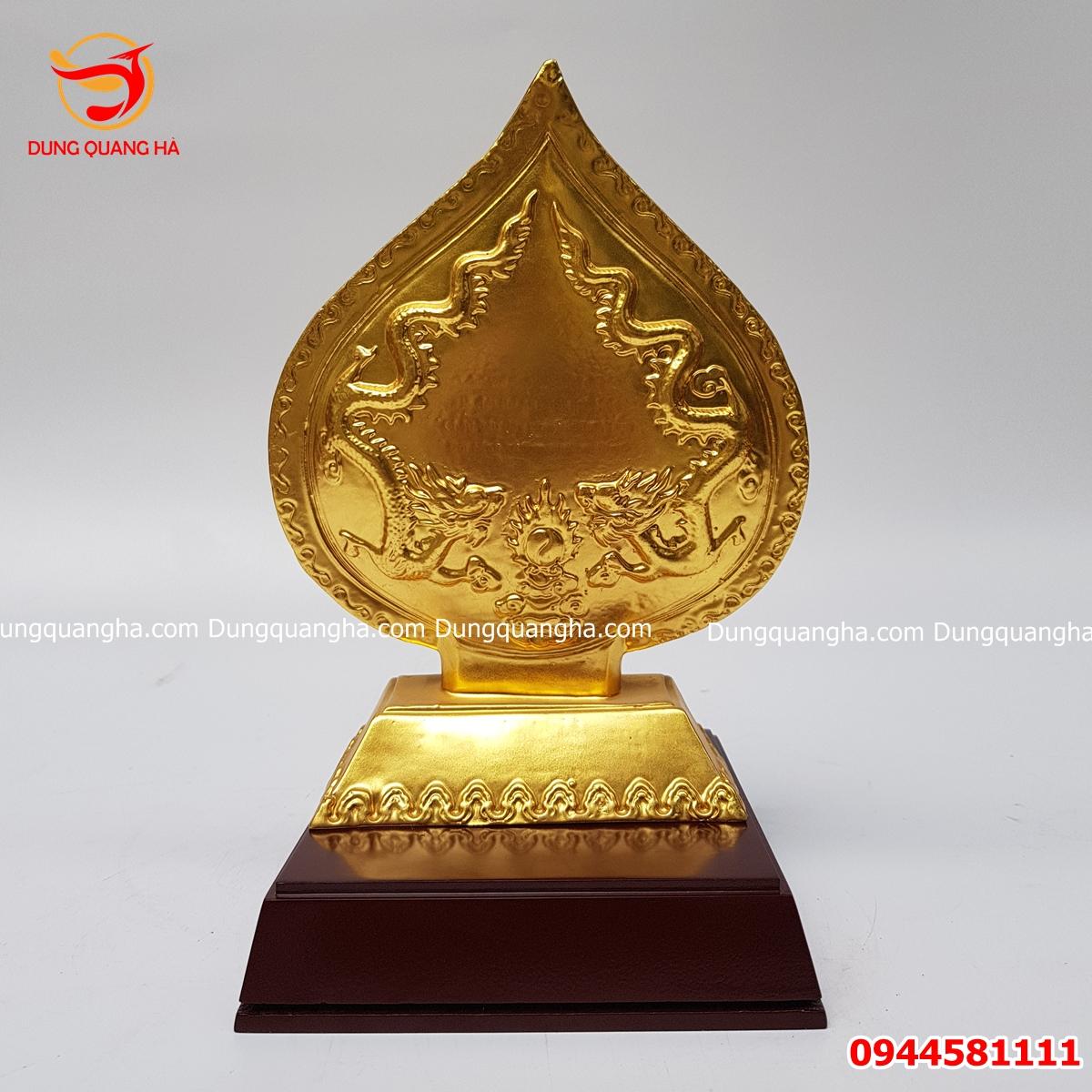 Lá đề tượng Phật Trần Nhân Tông