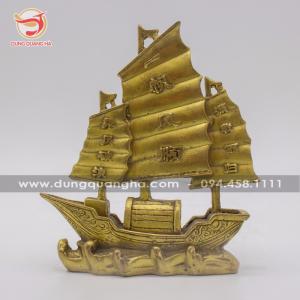 Mô hình thuyền buồm phong thủy bằng đồng