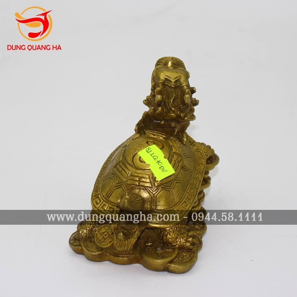 Rùa đầu rồng phong thủy bằng đồng đẹp