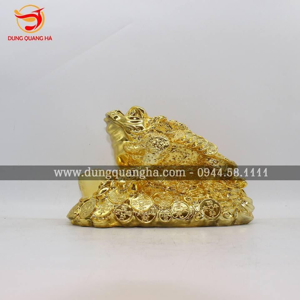 Thiềm Thừ mạ vàng không ngậm tiền