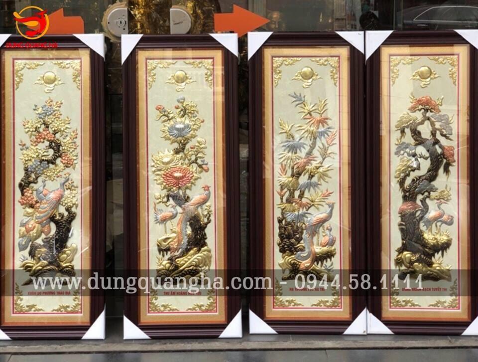 Tranh Hoa Khai Phú Quý cực đẹp kích thước 2m3