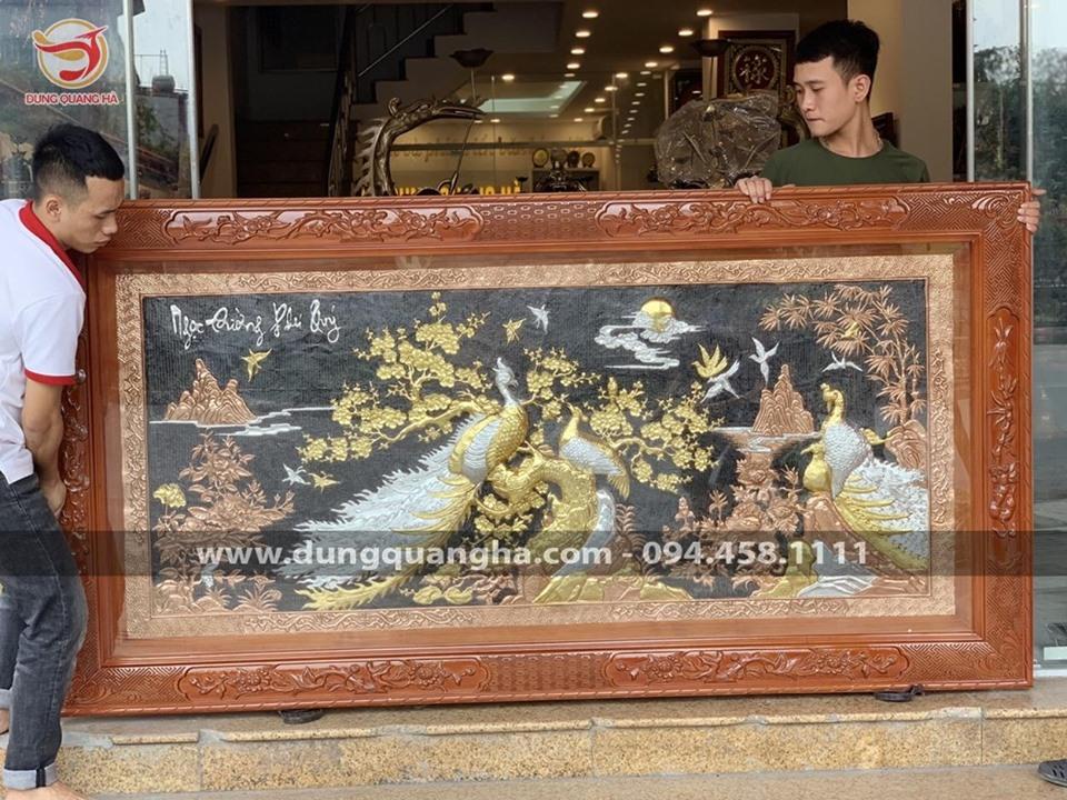 Tranh Ngọc Đường Phú Quý khảm tam khí 1m7