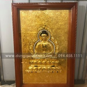 Tranh Phật Tổ Như Lai mạ vàng 24k