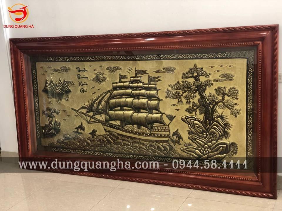 Tranh Thuận Buồm Xuôi Gió đẹp xước cao cấp