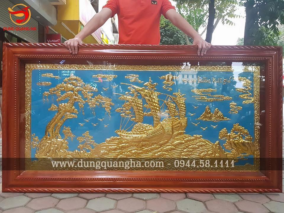 Tranh Thuận Buồm Xuôi Gió mạ vàng 24k