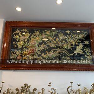 Tranh Vinh Hoa Phú Quý nền màu sắc sinh động
