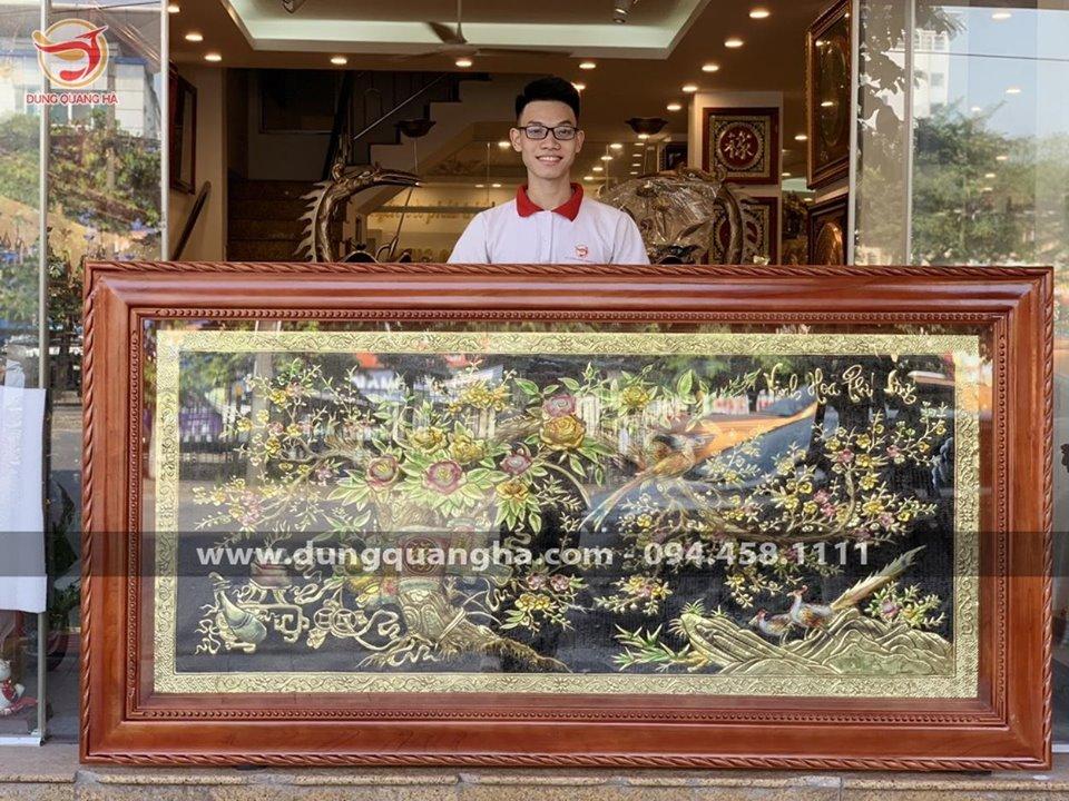 Tranh Vinh Hoa Phú Quý vẽ màu kích thước 2m3