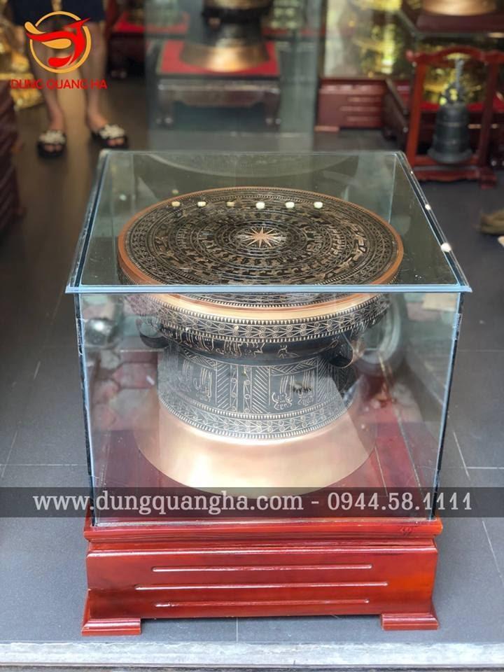 Trống đồng đường kính 60cm tinh xảo - đồng đỏ