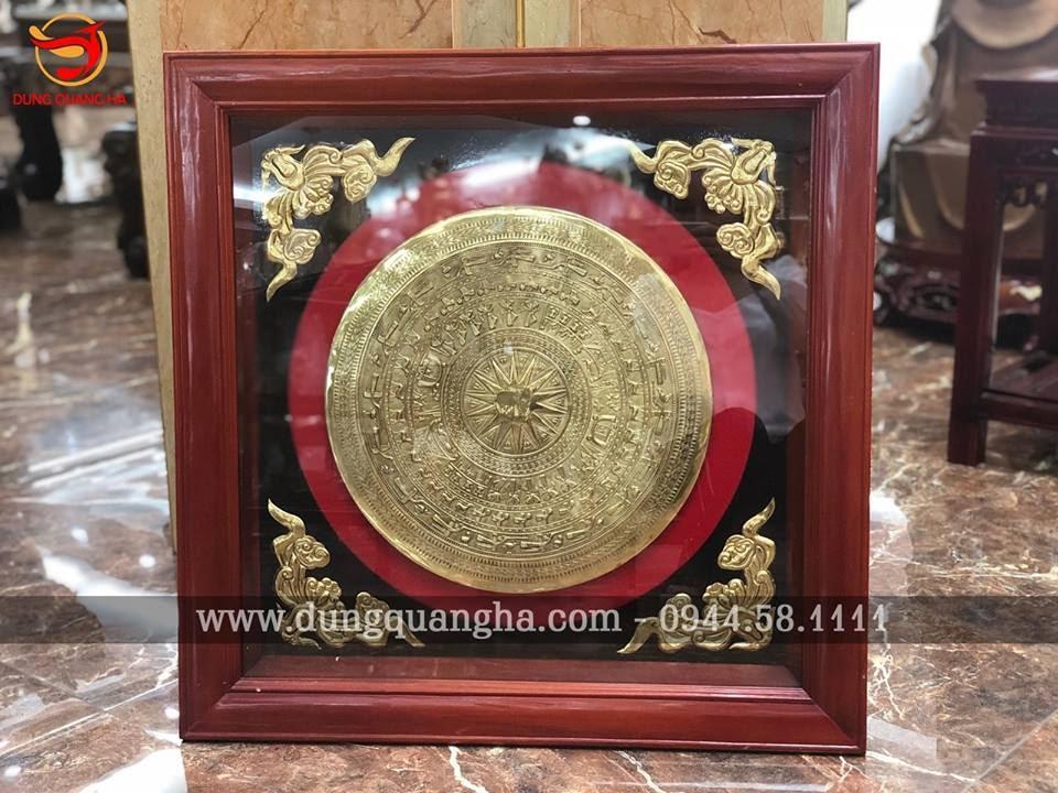 Trống đồng quà tặng mạ vàng 24k cao cấp