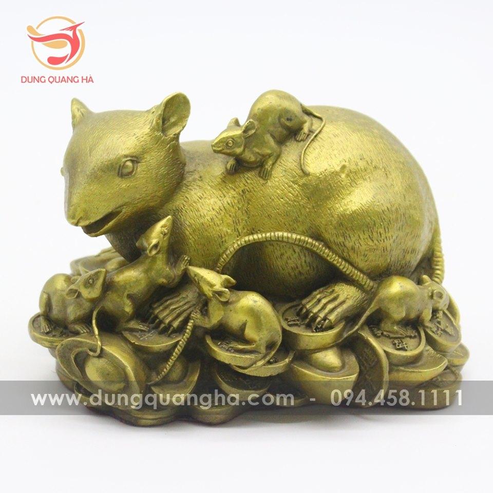 Tượng chuột bằng đồng - biểu tượng con chuột trong văn hóa dân gian