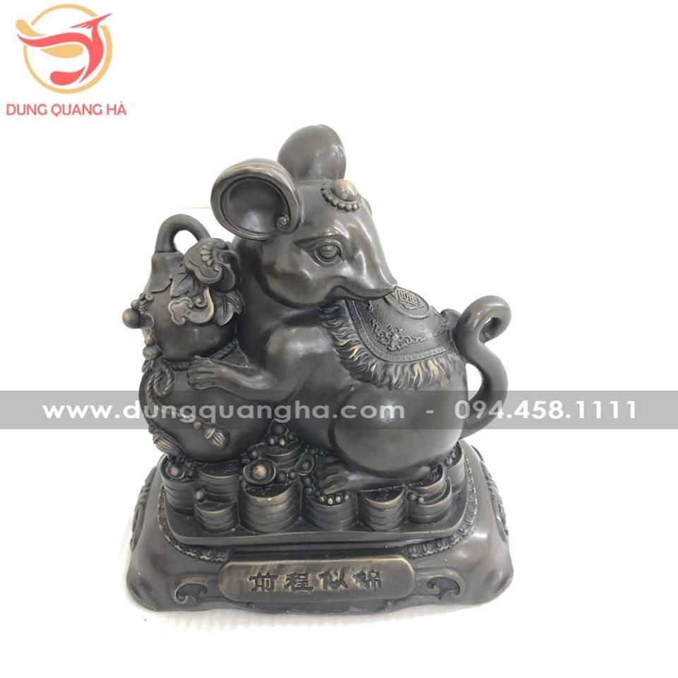 Tượng chuột bằng đồng hun giả cổ