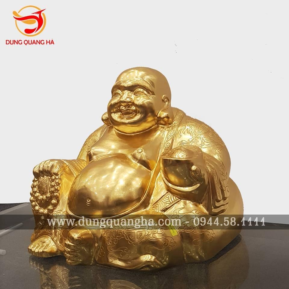 Tượng Di Lặc bằng đồng thếp vàng 9999 tinh xảo