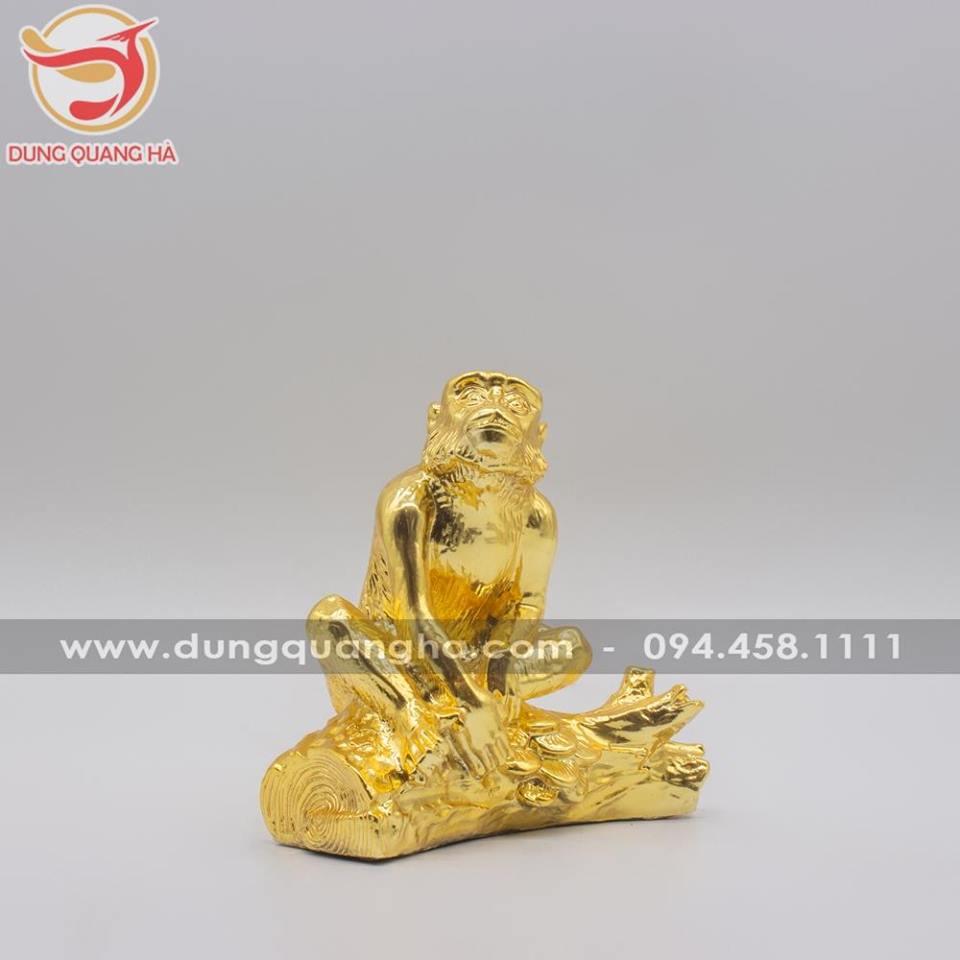 Tượng khỉ phong thủy mạ vàng - linh vật ý nghĩa