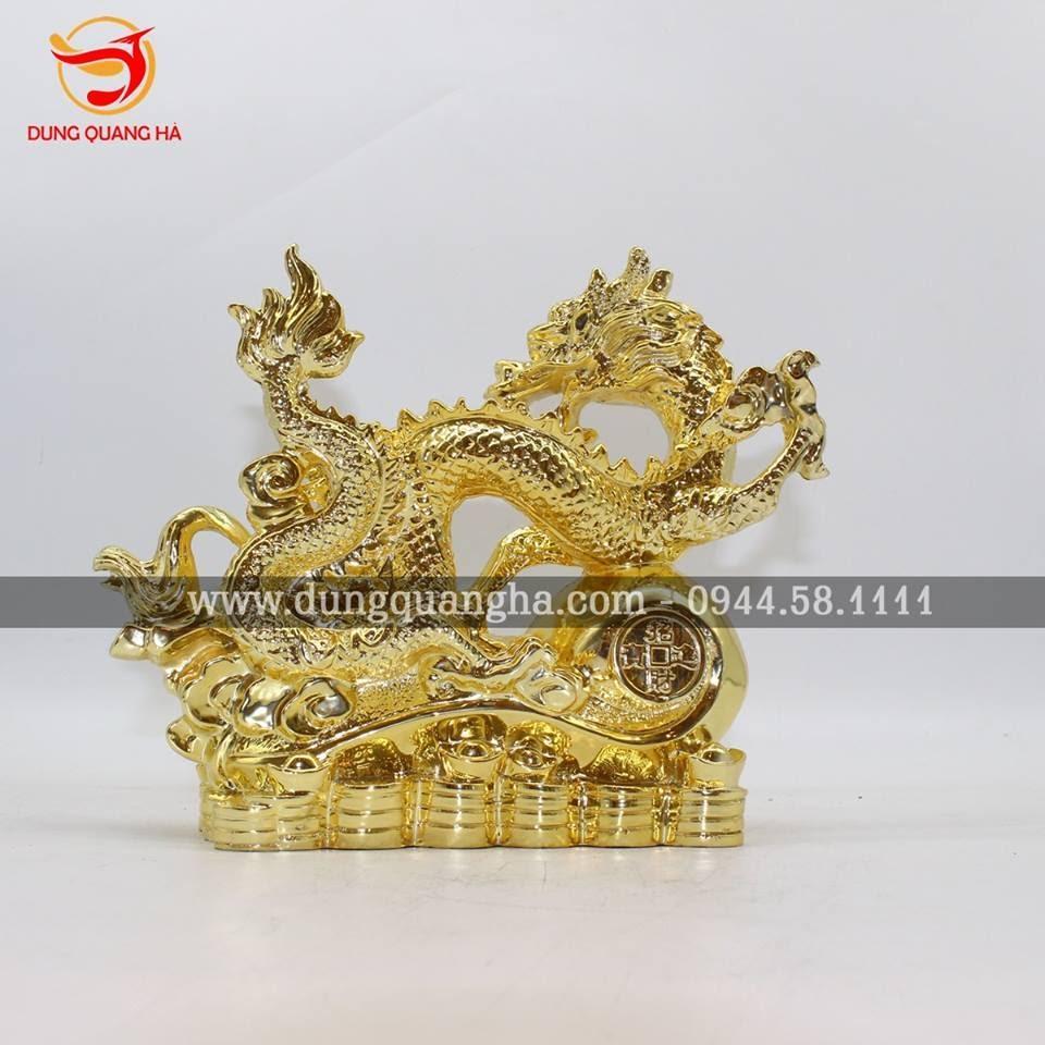 Tượng Long Mã bằng đồng mạ vàng đẹp tinh xảo
