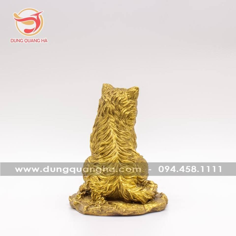 Tượng mèo bằng đồng cao cấp sống động