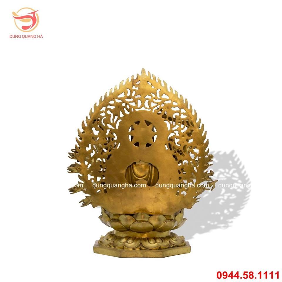 Tượng Phật Chuẩn Đề bằng đồng vàng mộc