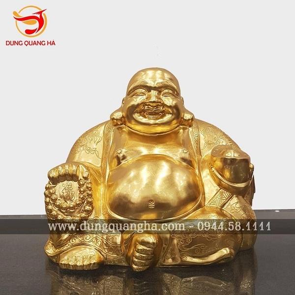 Tượng Phật Di Lặc bằng đồng – Phật cười sảng khoái cho cả gia đình sung túc, an vui