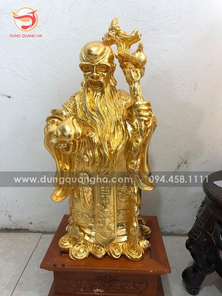 Tượng tam đa cỡ lớn thếp vàng 9999 cao 68cm