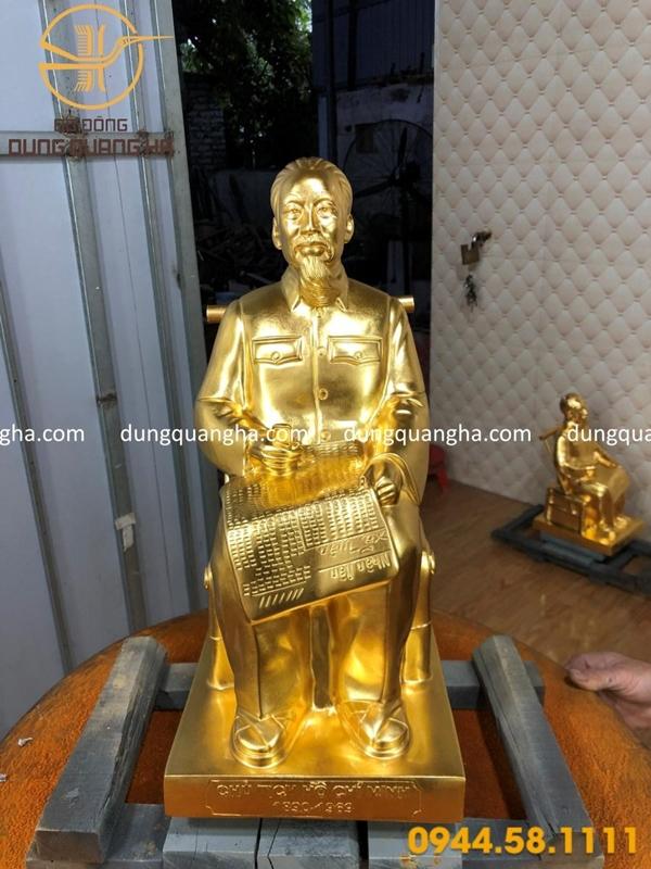 Dát Vàng 9999 Tượng Bác Hồ Và Tượng Phật Đản Sanh