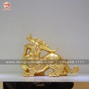 Con Tỳ Hưu phong thủy bằng đồng dát vàng 9999