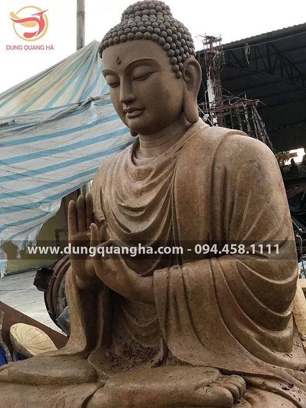 Đắp mẫu tượng Phật Thích Ca cao 3m