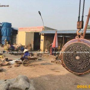 Quả trống cái mặt trống đồng Việt Nam đúc bằng đồng đỏ
