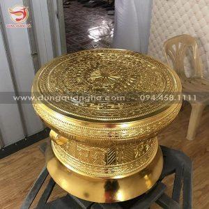 Quả trống đồng Ngọc Lũ cao 40cm bằng đồng tinh xảo