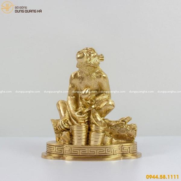 Tượng khỉ bằng đồng catut - Linh vật phong thủy độc đáo