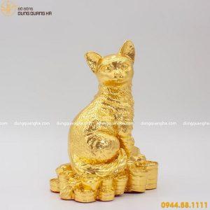 Tượng mèo phong thủy thếp vàng - linh vật may mắn