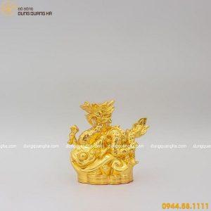Tượng rồng thiêng thếp vàng - linh vật phong thủy ý nghĩa