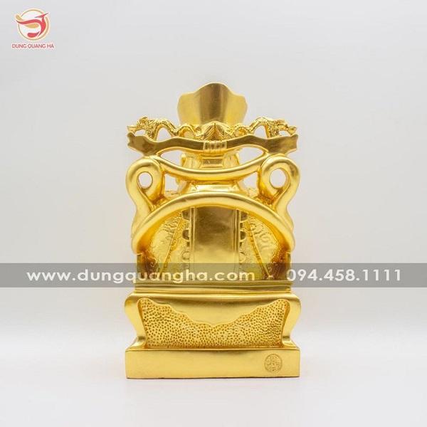 Tượng Thần Tài bằng đồng thếp vàng 9999