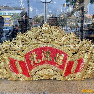 Bộ cuốn thư câu đối Đức Lưu Quang mạ vàng đẹp cổ tinh xảo