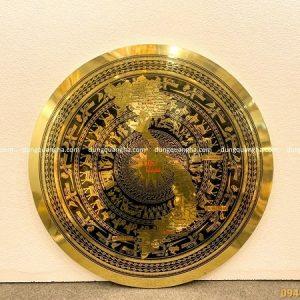 Mặt trống đồng vàng thúc hình bản đồ Việt Nam