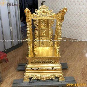 Ngai thờ gia tiên bằng đồng cao 68cm dát vàng