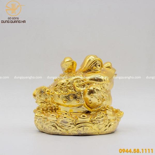 Thiềm Thừ phong thủy cõng thỏi vàng đẹp tinh xảo