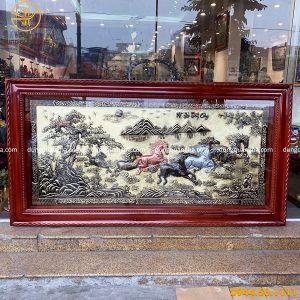 Tranh Bát Mã Truy Phong bằng đồng kích thước 2m3