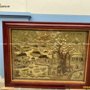Tranh đồng quê bằng đồng - bức tranh cội nguồn quê hương đẹp