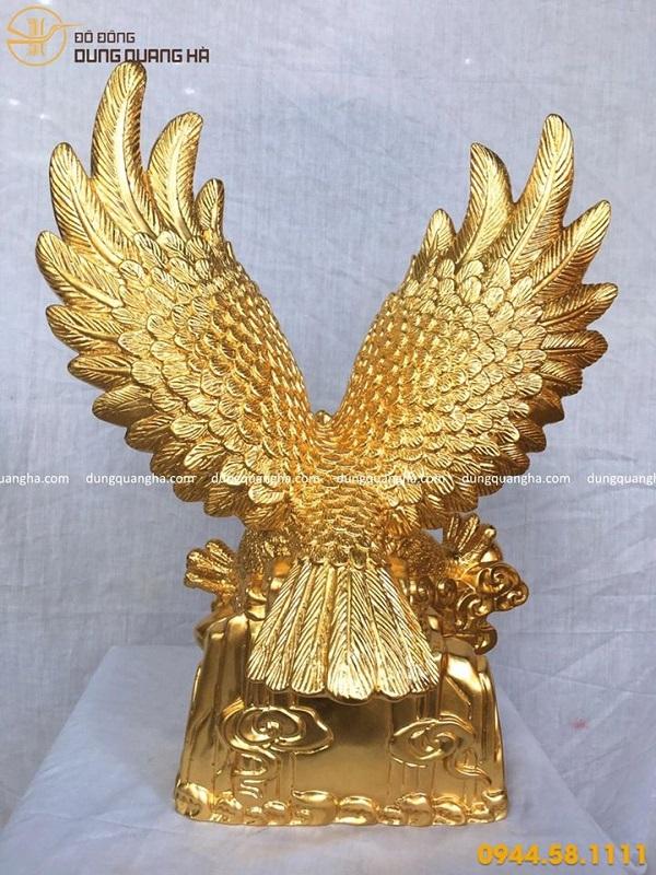 Tượng đại bàng phong thủy bằng đồng thếp vàng